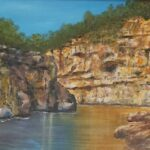 Redland Yurara Art Society - 'Kimberley Gorge -' Ray Hackett - Oil - Painting - Art Exhibition - Major Spring Art Exhibition