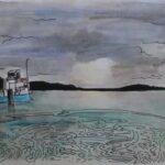 redland yurara art society - yurara youth art awards - YYAA 2020 - art exhibition - art competition - 'Lamb Island' - Evie Sprite - Cleveland District State High School - Watercolour