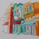 redland yurara art society - yurara youth art awards - YYAA 2020 - art exhibition - art competition - 'Marli Street' -Madeline Miles -Cleveland District State High School - Ink - Marker pen - Pencil