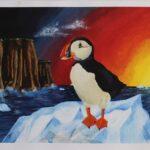 redland yurara art society - yurara youth art awards - YYAA 2020 - art exhibition - art competition - 'Melting Oceans' - Kierli Pilkington -Cleveland District State High School -Acrylic - Print