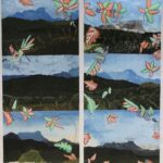 redland yurara art society - yurara youth art awards - YYAA 2020 - art exhibition - art competition - 'Mount Taginambur' -Zoe Wilson -Cleveland District State High School -Acrylic and Posca on Canvas