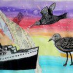 redland yurara art society - yurara youth art awards - YYAA 2020 - art exhibition - art competition - 'My Migratory Adventure' - Gian Warlters -Ormiston College - Watercolour -Charcoal