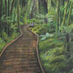 redland yurara art society - yurara youth art awards - YYAA 2020 - art exhibition - art competition - 'Path Through Aotearoa' - Daria Estera Rezner - Cleveland District State High School -Acrylic