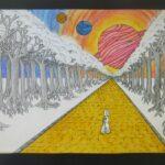 redland yurara art society - yurara youth art awards - YYAA 2020 - art exhibition - art competition - 'Path to Dreams' - Halle Jones - Victoria Point State High School - Graphite - Felt pen - Chalk - Pastel