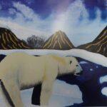 redland yurara art society - yurara youth art awards - YYAA 2020 - art exhibition - art competition - 'Polar Bear on Melting Ice Caps' - Rhianne Kimlin - Cleveland District State High School - Acrylic - Print