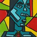 redland yurara art society - yurara youth art awards - YYAA 2020 - art exhibition - art competition - 'Self Portrait' - Tia Watt -Cleveland District State High School -Acrylic