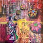 Redland Yurara Art Society -'Juggling Geisha' -Sharon John - Mixed Media - Painting - Art Exhibition - Major Spring Art Exhibition