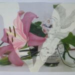 redland yurara art society - yurara youth art awards - YYAA 2020 - art competition - art exhibition - drawing - 'Still Life with Flower and Perfume Bottle' -Danika Lewis - Victoria Point State High School - Graphite - Coloured Pencil - Digital Photo
