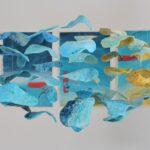 redland yurara art society - yurara youth art awards - YYAA 2020 - art exhibition - art competition - 'Storm of Serenity' -Charlotte Lane -Ormiston College - Air drying clay -Fishing Line - Acrylic paint - Paper - Wood - major prize winner