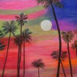 Redland Yurara Art Society - 'Sunset at the Bay' - Mila Rush - Acrylic - Painting - Art Exhibition - Major Spring Art Exhibition