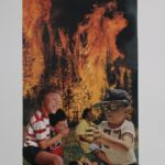 redland yurara art society - yurara youth art awards - YYAA 2020 - art exhibition - art competition - 'The Hunt' - Ruairi O'Brien - Cleveland District State High School - Collage