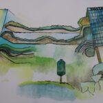 redland yurara art society - yurara youth art awards - YYAA 2020 - art exhibition - art competition - 'The Park Royal' - Ryan Mitchell - Cleveland District State High School - Watercolour