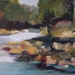Redland Yurara Art Society - 'The Rocks' - Bernie Dawson - Oil - Painting - Art Exhibition - Major Spring Art Exhibition