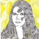 redland yurara art society - yurara youth art awards - YYAA 2020 - art exhibition - 'Untitled' - Charlotte Lane - Ormiston College - Pen - Watercolour