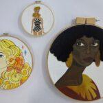 redland yurara art society - yurara youth art awards - YYAA 2020 - art exhibition - art competition - 'Untitled' - Tyler Pasop - Victoria Point State Highschool - Acrylic - Embroidery on Canvas