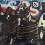 redland yurara art society - yurara youth art awards - YYAA 2020 - art exhibition - art competition - 'Van Gogh Clay Castle' -Kierli Pilkington -Cleveland District State High School -Acrylic - Print