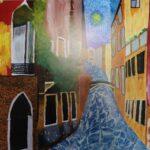 redland yurara art society - yurara youth art awards - YYAA 2020 - art exhibition - art competition - 'Van Gogh Venice Canal' -Rhianne Kimlin -Cleveland District State High School - Acrylic - Print