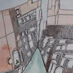 redland yurara art society - yurara youth art awards - YYAA 2020 - art exhibition - art competition - 'Venice' - Alyssa Ferguson - Cleveland District State High School - Watercolour and Ink