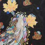 redland yurara art society - yurara youth art awards - YYAA 2020 - art exhibition - art competition - 'Walk a Mile' - Carlos Santiago Johnson -Cleveland District State High School -Watercolour - Posca markers