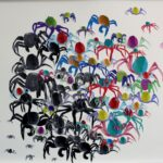 redland yurara art society - yurara youth art awards - YYAA 2020 - art exhibition - art competition - 'Wellington Point Soldiers' - Taryn Amorsen - Ormiston College - Acrylic on cartridge paper