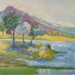 Redland Yurara Art Society -'Windy Waters' -Gloria Dietz-Kiebron -Acrylic - Painting - Art Exhibition - Major Spring Art Exhibition