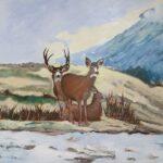 Redland Yurara Art Society - 'Winter's Approach' - Gloria Dietz-Kiebron - Acrylic - Painting - Art Exhibition - Major Spring Art Exhibition