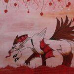 redland yurara art society - yurara youth art awards - YYAA 2020 - art exhibition - drawing - 'Untitled' -Jazmin Blake -Cleveland District State High School mythical creature