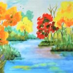 Redland Yurara Art Society - 'Autumn not Spring' - Gloria Dietz-Kiebron - Acrylic - Painting - Artwork for Sale
