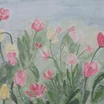 Redland Yurara Art Society - 'Spring Flowers' - Arja Tossavainen - Watercolour - Painting - Art Exhibition - Watercolours