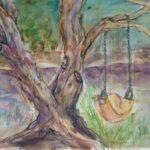 Redland Yurara Art Society - 'The Swing' - Viga Misztal - Watercolour - Painting - Art Exhibition - Watercolours
