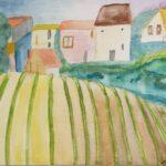 Redland Yurara Art Society -'Vineyard' - Jodi Van Der Pligt - Watercolour - Painting - Art Exhibition - Watercolours