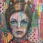 Redland Yurara Art Society - '60's Girl' - Sharon John - Mixed Media - Painting - Art Exhibition - The Holiday Collection