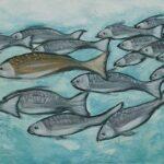 Redland Yurara Art Society - 'Flash Mob' - Evelyn Kerlin - Acrylic - Painting - Art Exhibition - The Holiday Collection