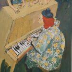 Redland Yurara Art Society - 'Grandma at The Piano Bar' - Robin Wilson - Acrylic - Painting - Art Exhibition - The Holiday Collection