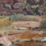 Redland Yurara Art Society - 'Palm Valley' - Arja Tossavainen - Oil - Painting - Art Exhibition - The Holiday Collection