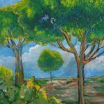 Redland Yurara Art Society - 'Sunlight on Trees' - Amelia Wakefield - Acrylic - Painting - Art Exhibition -The Holiday Collection