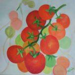 Redland Yurara Art Society - 'Tasty Tomatoes' - Danielle Bain - Acrylic - Painting - Art Exhibition - The Holiday Collection
