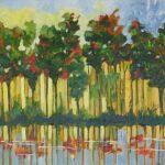Redland Yurara Art Society - 'The Forest 2' - Gloria Dietz-Kiebron - Acrylic - Painting - Art Exhibition - The Holiday Collection