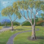 Redland Yurara Art Society - 'The Lookout' - Evelyn Kerlin - Acrylic - Painting - Art Exhibition - The Holiday Collection