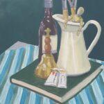 Redland Yurara Art Society - 'A Random Composition' - Evelyn Kerlin - Acrylic - Painting - Art Exhibition - Still Life