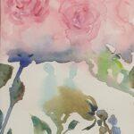 Redland Yurara Art Society - 'Abstract Pink Roses' - Angela Bruce - Watercolour - Painting - Art Exhibition - Still Life