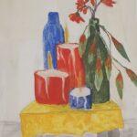 Redland Yurara Art Society -'Candles' - Rosie Sheehan - Gouache - Painting - Art Exhibition - Still Life