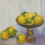 Redland Yurara Art Society - 'Lemons' - Glenys Bull - Acrylic - Painting - Art Exhibition - Still Life