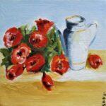Redland Yurara Art Society - 'Roses are Red' - Gloria Dietz-Kiebron - Acrylic - Painting - Art Exhibition - Still Life