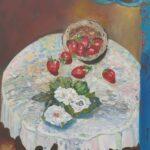 Redland Yurara Art Society - 'Strawberry Picking' - Louise Harrison - Oil - Painting - Art Exhibition - Still Life