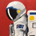 Redland Yurara Art Society - 'Aussienaut' - Angela Bruce - Acrylic - Painting - Art Exhibition - Space