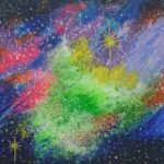 Redland Yurara Art Society - 'Outer Space' - Tarja Rantala - Acrylic - Painting - Art Exhibition - Space