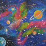 Redland Yurara Art Society - 'Saturn' - Tarja Rantala - Acrylic - Painting - Art Exhibition - Space