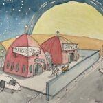 Redland Yurara Art Society - 'Thrusto Fuels' - Evelyn Kerlin - Watercolour - Painting - Art Exhibition - Space
