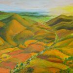Redland Yurara Art Society Major Autumn Exhibition 'Afternoon Glow' - Danielle Bain - Acrylic
